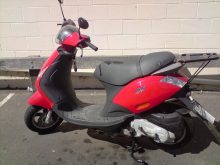 Photo of a Piaggio Zip 50 scooter.