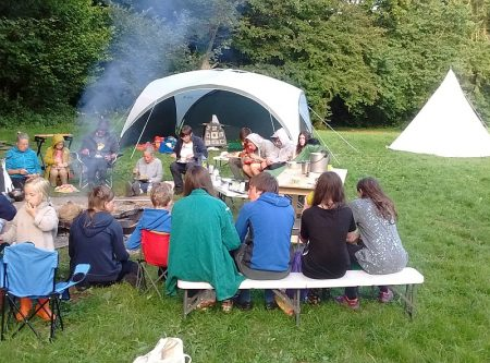 Woodcraft Folk from groups across Bristol on camp in Wales,