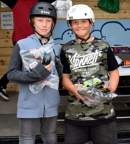 Prizewinners in the BMX 12 years & under category.