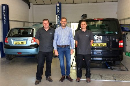 First day of trading at LCM Automotive's new MOT and Service Centre in Filton.