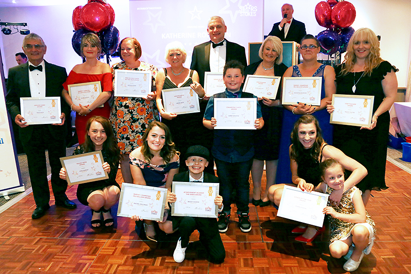 Photo of all the finalists at the 2017 Stars of the Stokes Awards presentation evening.