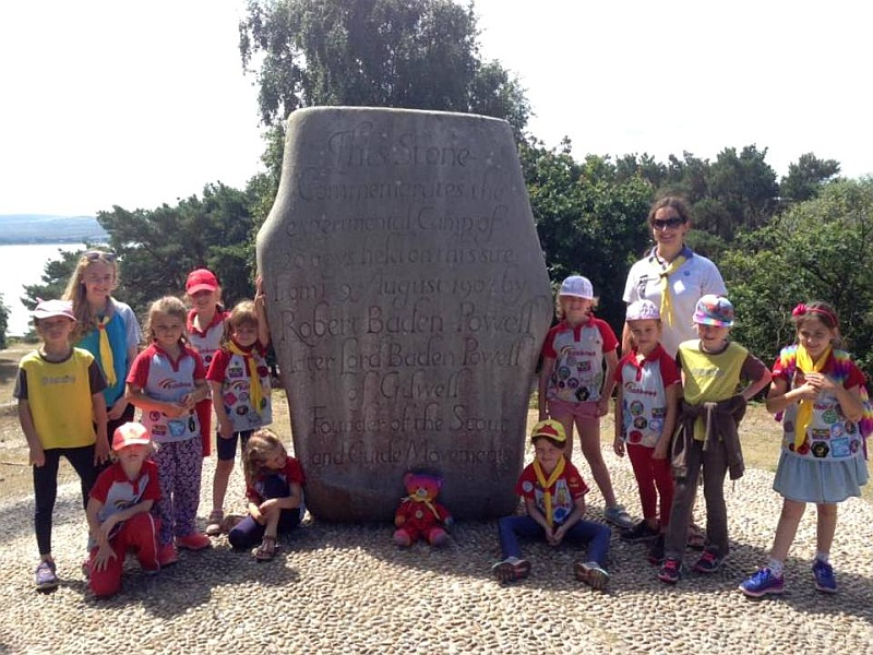 1st Bradley Stoke Rainbows on Brownsea Island.