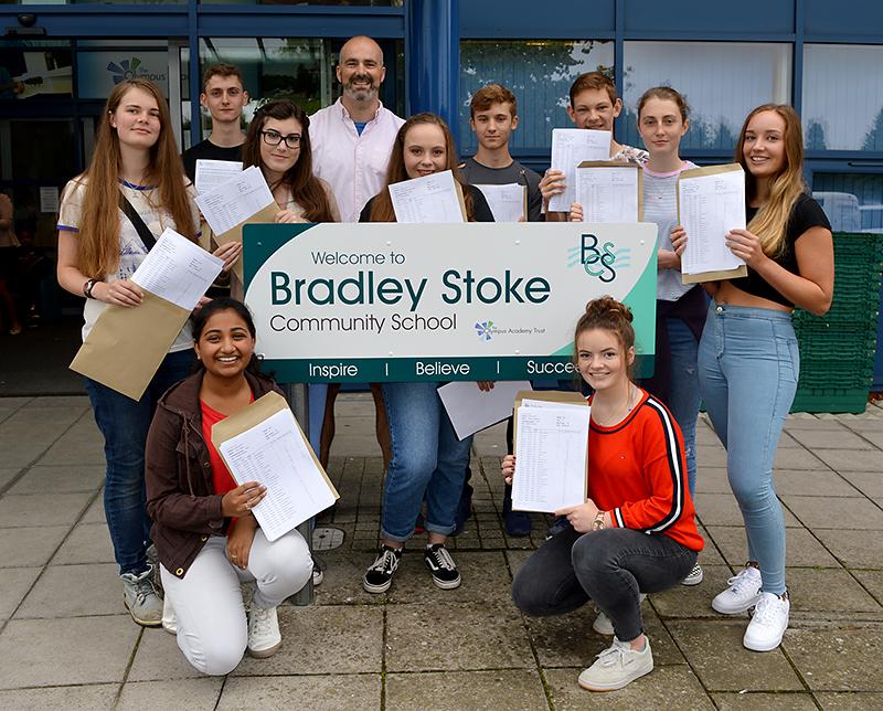 Top performing GCSE students at Bradley Stoke Community School.