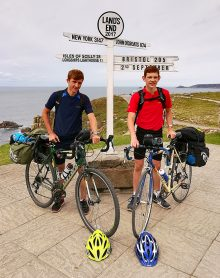 Photo of Ryan Edwards and Scott Warburton at Land's End.