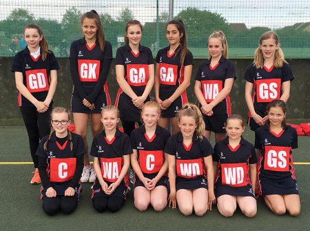 Bradey Stoke Junior Netball Club U12s.