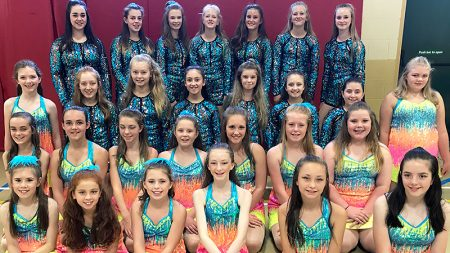 Photo of students from Sharon Phillips School of Dancing who will be performing at Her Majesty's Theatre.