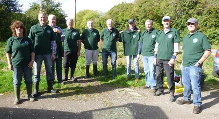 Photo of Bradley Stoke Green Gym volunteers at The Common East.