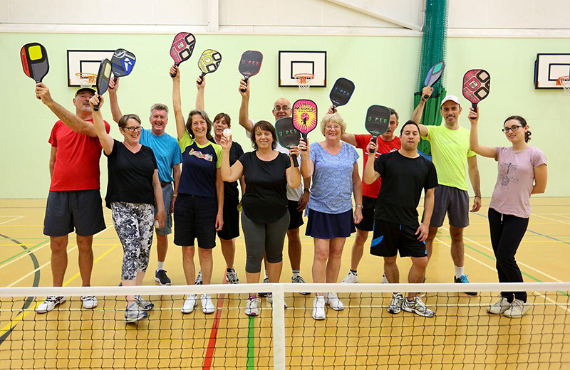 Photo of players at a Bristol Pickleball Club session.