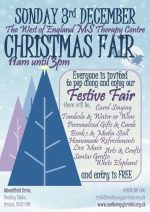 Poster for the MS Therapy Centre Christmas fair.