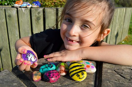 "Ellie Carr displays some of her favourite ""rocks""."