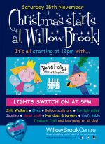 Poster advertising the Christmas lights switch-on event.