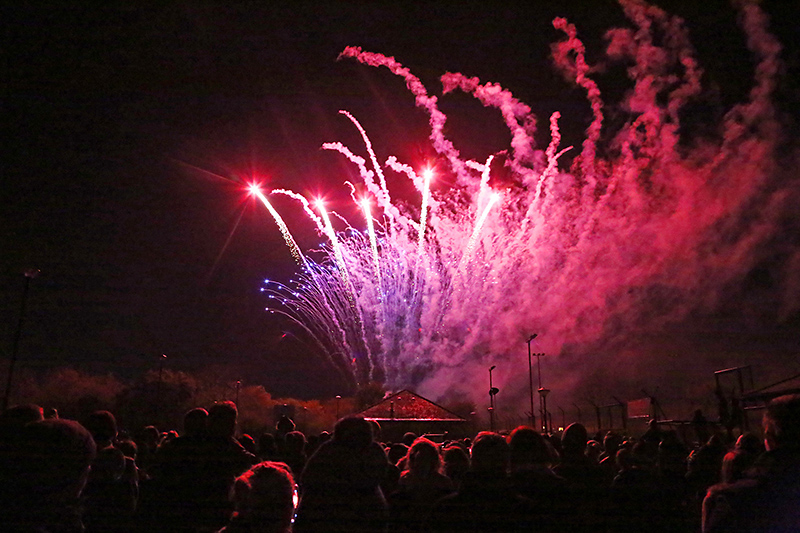 Bradley Stoke Town Council fireworks display.