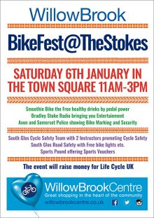 Poster advertising Bike Fest @ The Stokes.