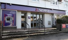 Photo of the outside of NatWest Bank, Winterbourne.