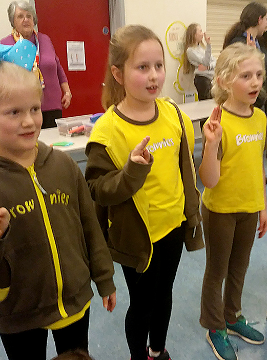 Thinking Day: Brownies.