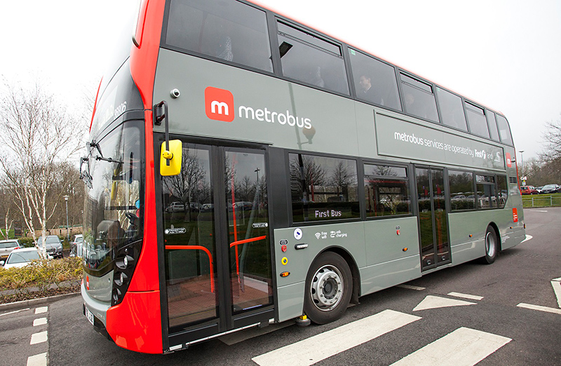 Photo of a Bristol MetroBus vehicle parked at Long Ashton Park & Ride.