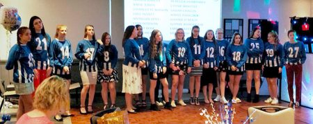 BSYFC U16 Girls' presentation: Fun and games during the evening.