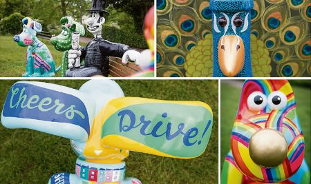 Details from the first four Gromit Unleashed 2 sculptures revealed on 16th May