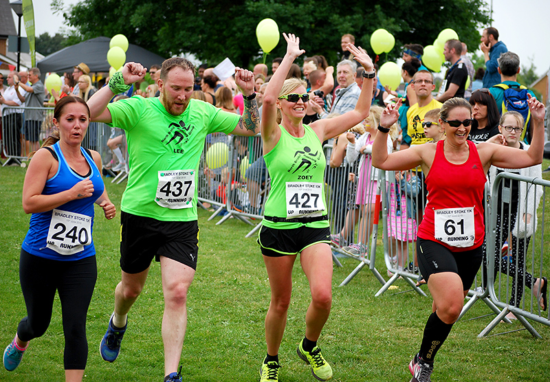 Finishers at the 2018 Bradley Stoke 10k Run.