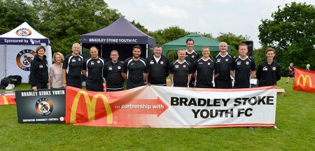 Photo of the organising team behind the Football Festival.
