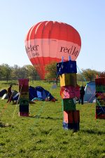 Bradley Stoke Woodcraft camp - balloon landing.