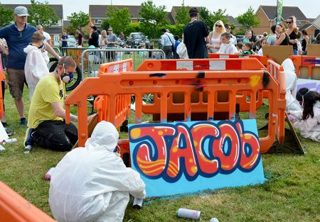 Street art zone at the 2018 Bradley Stoke Community Festival.