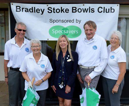Specsavers sponsor Bradley Stoke Bowls Club.
