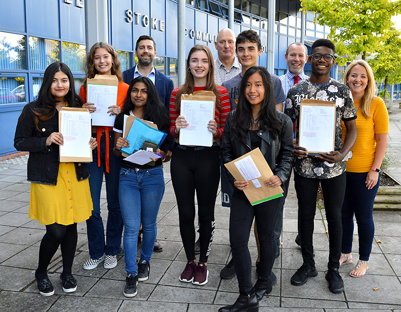 Photo of top performing GCSE students at Bradley Stoke Community School.
