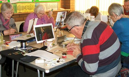 A Stokes Art Group session.