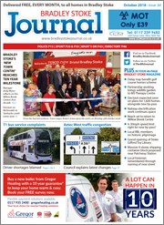 October 2018 issue of the Bradley Stoke Journal magazine.
