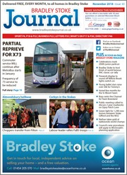 November 2018 issue of the Bradley Stoke Journal magazine.