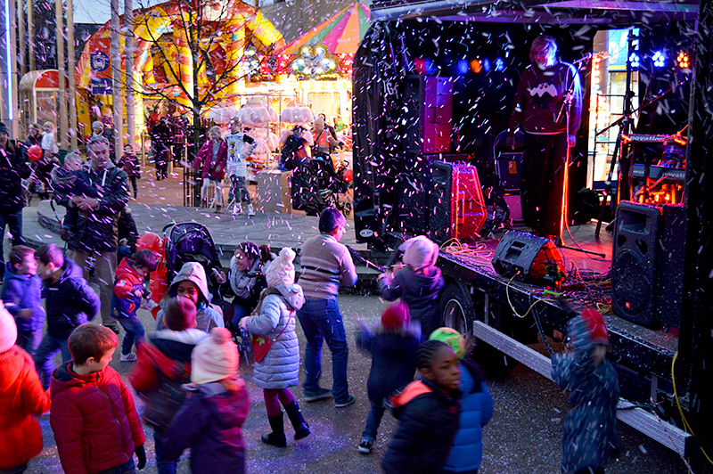 Christmas Lights Switch-on Event at the Willow Brook Centre in 2014.