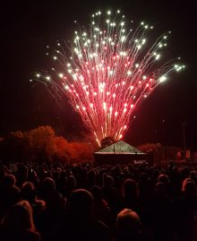 Bradley Stoke fireworks display 2018.
