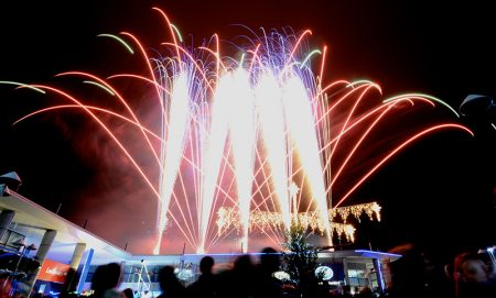 Fireworks display at the Willow Brook Centre's Christmas Lights Switch-On event.