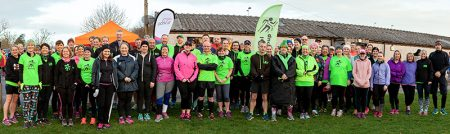 Photo of the 'Couch to 5k' course participants at their 'graduation' parkrun, supported by many members of the group.