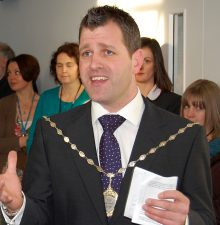 Photo of Cllr Ben Walker at an event in 2011 when he was vice-chair of South Gloucestershire Council.