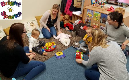 Photo of mums and babies at the toddler group.