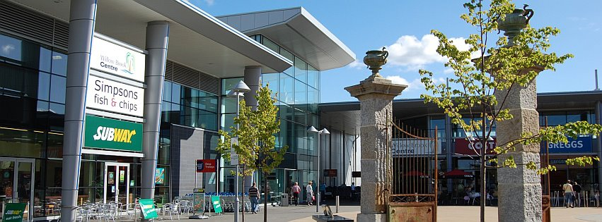 Photo of the town square at the Willow Brook Centre, Bradley Stoke.