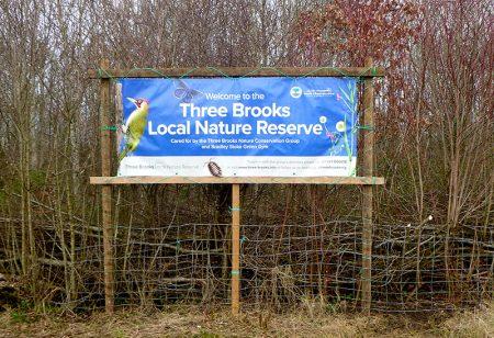 Photo of TBNCG banner displayed on Bradley Stoke Way.