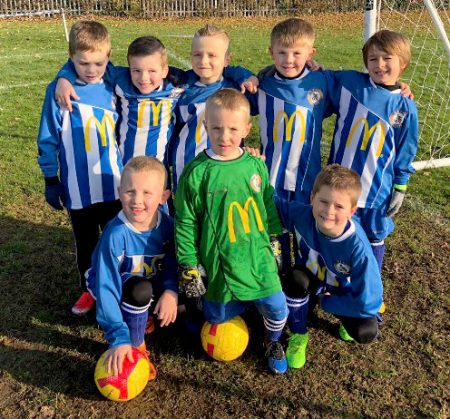 Photo of the Bradley Stoke Youth FC Under-7 team.
