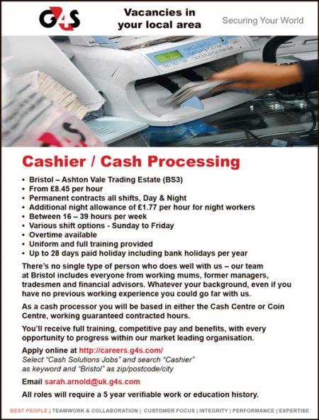 G4S Cash Solutions job vacancies.