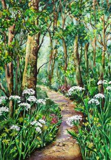 Landscape (watercolour) by Sue Kelly.
