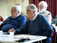 Photo of three of the councillors who voted against (l-r): Ken Dando, Ernie Brown and (in background) Dave Hockey.