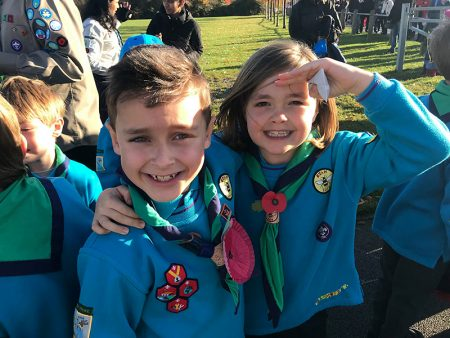 Members of 1st Bradley Stoke Scout Group.