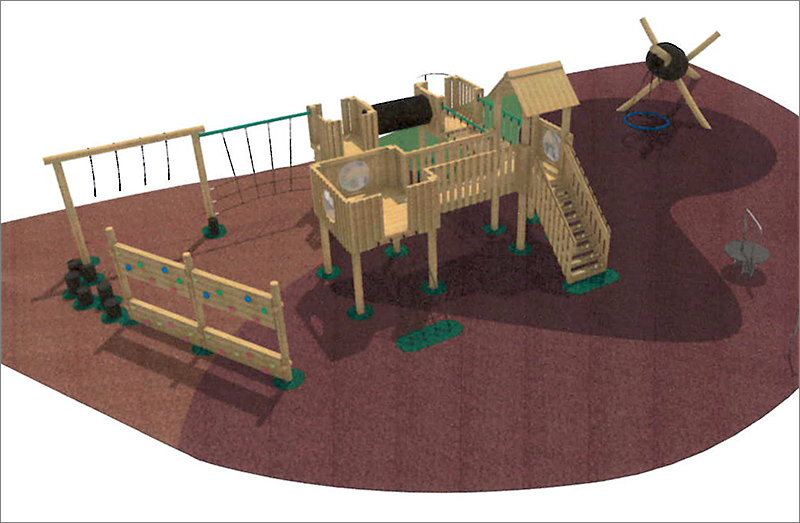 Visualisation of proposed new play equipment.