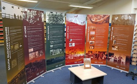 World War Two exhibition at Bradley Stoke Library in April 2019.