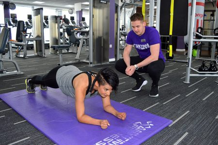 Personal training at Anytime Fitness, Bradley Stoke.