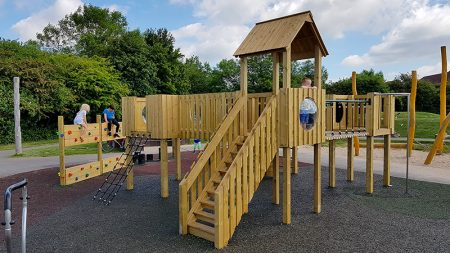 Photo of new play equipment.