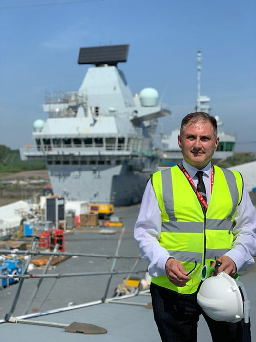 Photo of Jack Lopresti MP on a visit to HMS Prince of Wales at Rosyth.