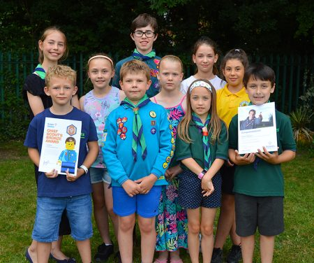 Photo of some of the young people who received award certificates at the AGM